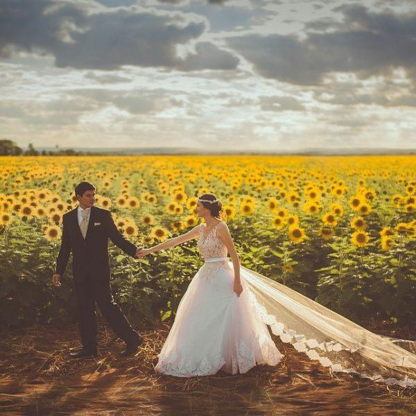 żółty kolor przewodni ślubu i wesela