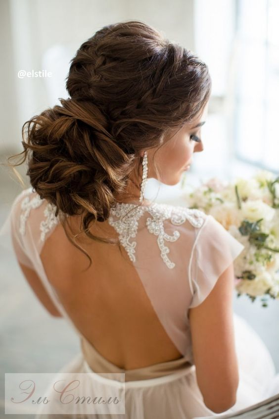 Fryzura ślubna z warkoczem
