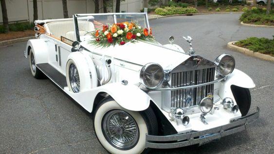 samochód retro do ślubu