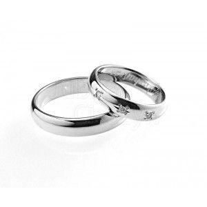Obrączka ślubna z białego złoto