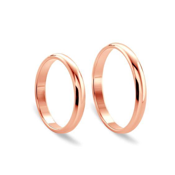 Obrączki ślubne z różowego złota