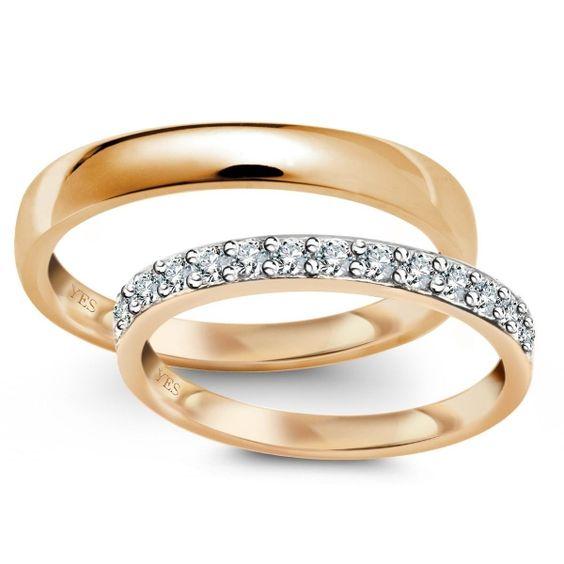obrączki ślubne z żółtego złota
