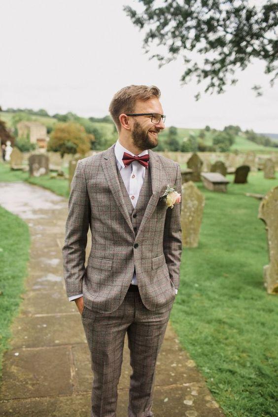 Ślubne garnitury w kratę