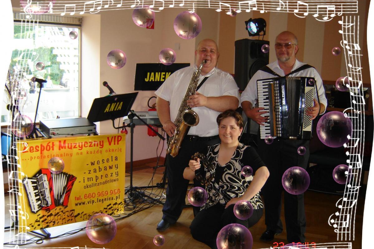 Zespół muzyczny *VIP* z Legnicy