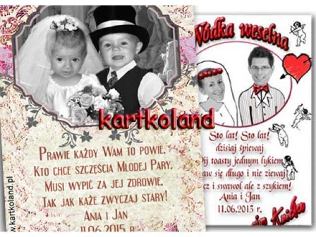 zaproszenia na ślub ślubne ze zdjeciem narzeczonych śmieszne fotomontaże z okresu dzieciństwa