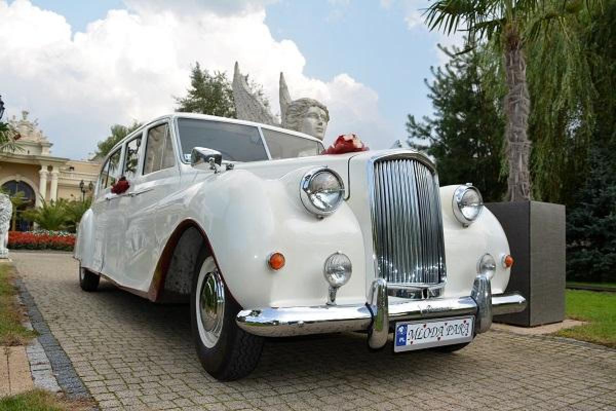Limuzyna królewska Austin Princess - auto do ślubu Nestor Baron - zabytkowy Cadillac De Ville