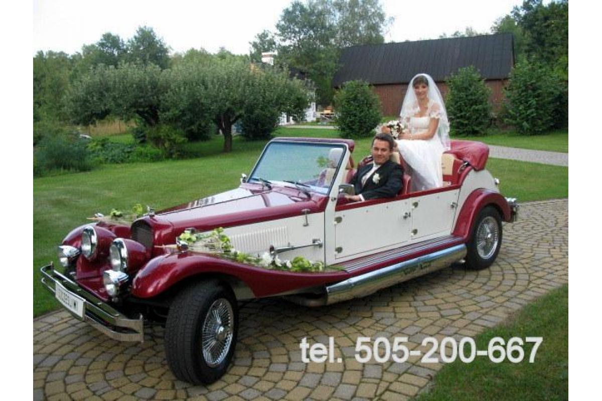 Wyjątkowe auto retro Nestor Baron do ślubu! Limuzyna Austin Princess i Cadillac De Ville na wesele