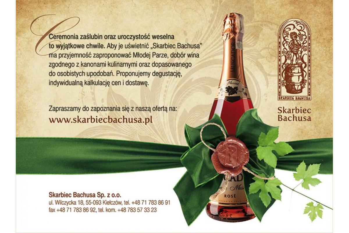 Skarbiec Bachusa - wina weselne