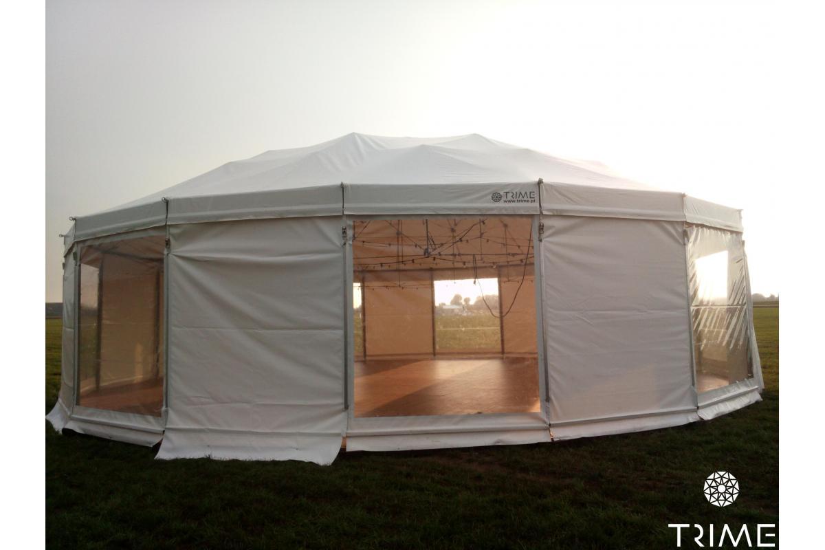 Wynajem okrągłych, eleganckich namiotów imprezowych TRIME