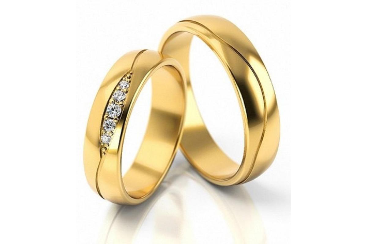 Obrączki złote S296