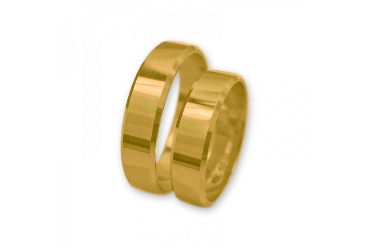Obrączki złote J019