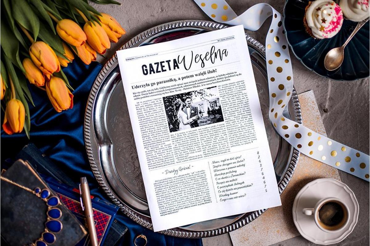 Gazeta Weselna | Spersonalizowana atrakcja na ślub i prezent dla gości