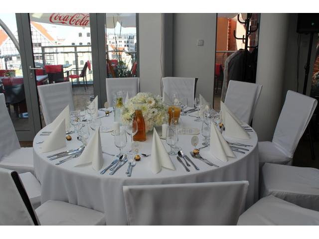 Restauracja Cała Naprzód z widokiem na gdańską starówkę