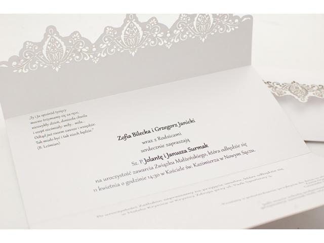 Zaproszenia ślubne wycinane laserowo - GRAWNET