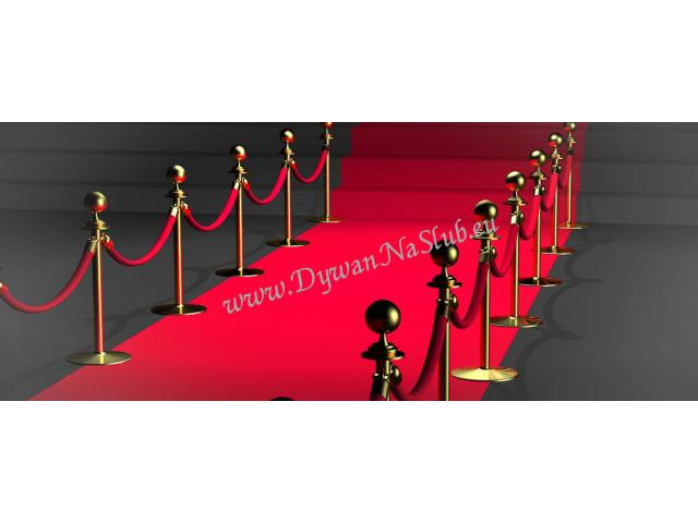 czerwony dywan na ślub, wesele, galę