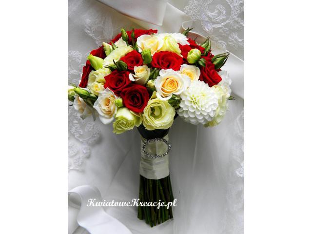 Kwiatowe Kreacje bukiety ślubne, kwiaty do ślubu,