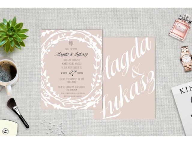 Oryginalne zaproszenia ślubne