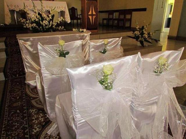 Wystroj kościoła na ślub