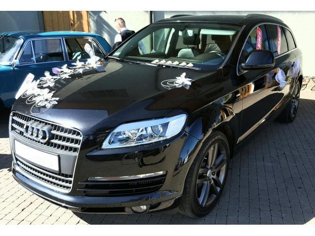 Auto do Ślubu Czarne AUDI Q7 Wynajem na Wesela Ślub