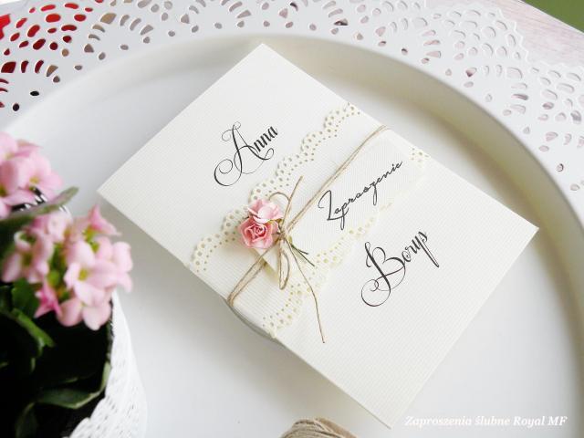 Zaproszenia ślubne Royal MF