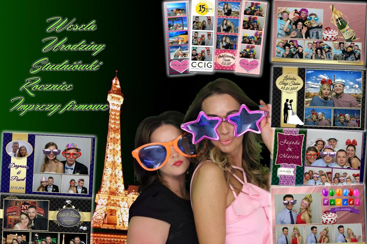 Zielona FotoBudka - Super jakość, bogactwo opcji, korzystaj na stojąco lub siedząco !