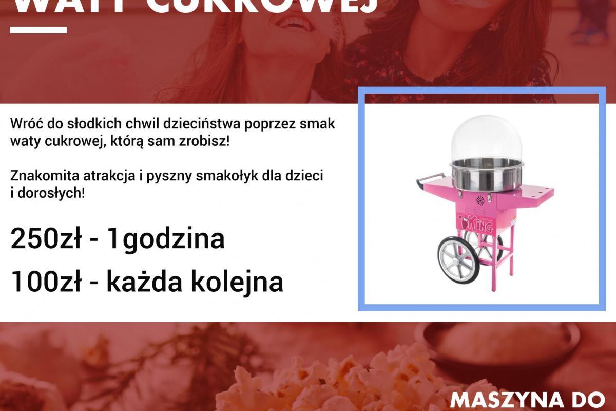 Maszyna do Waty Cukrowej i Popcornu