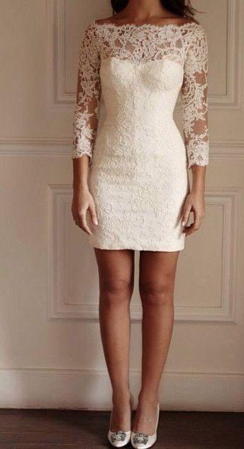koronkowe krótkie suknie ślubne