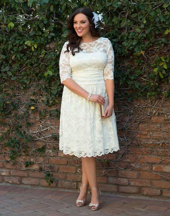 krótkia suknia ślubna