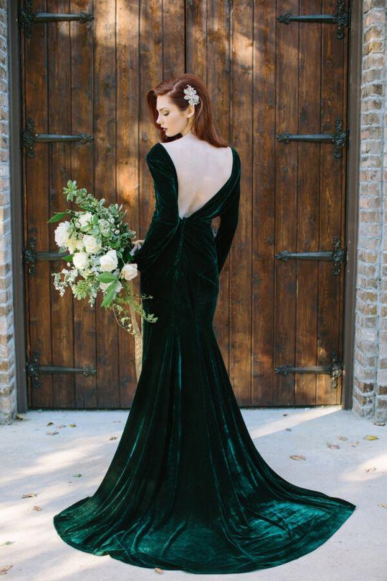 Zielona Suknia ślubna Czemu Nie Trendy Ślubne 2019
