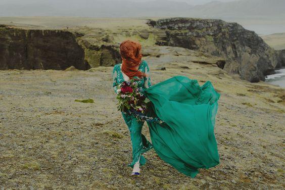 Zielone suknie ślubne