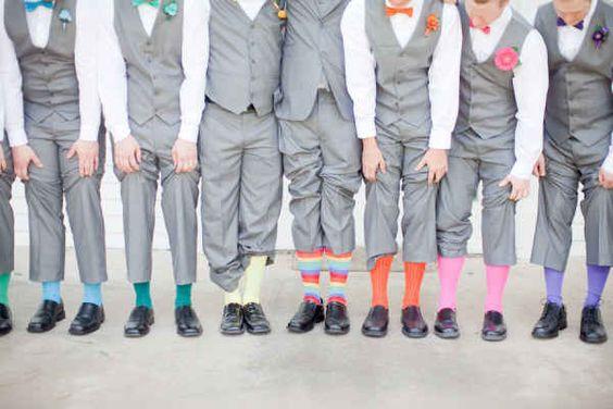 Kolorowe skarpetki ślubne