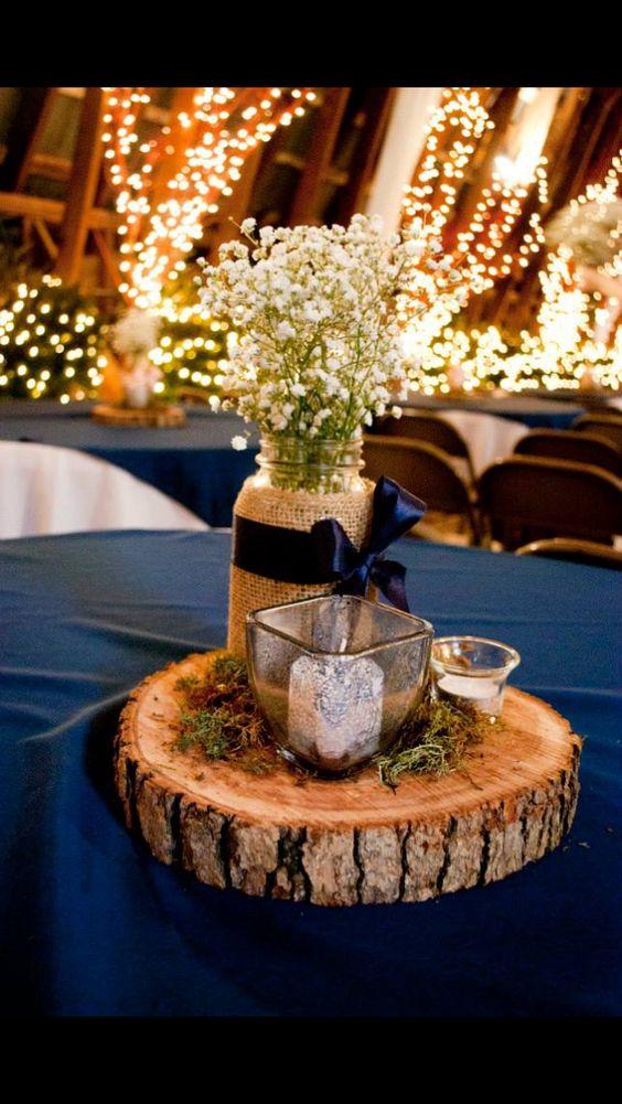granatowe dekoracje ślubne