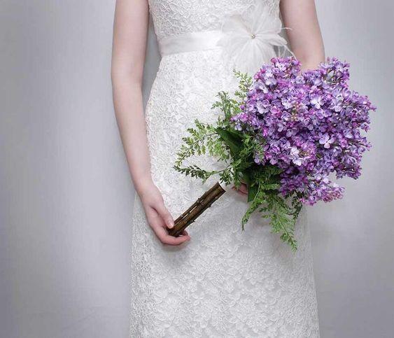 bukiet ślubny bez